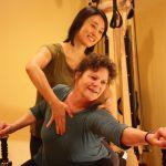 Kyung-sun Baek does Gyrotonic Exercise traning with Lisa